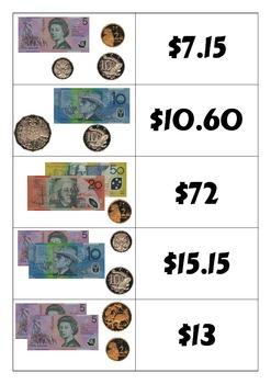 Australian Money Match-Up Cards