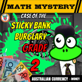 Australian Money Activity: Math Mystery 'Case of The Sticky Bank Burglary'