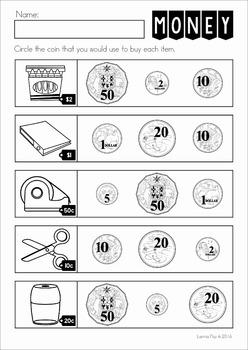 australian money no prep worksheets by lavinia pop tpt. Black Bedroom Furniture Sets. Home Design Ideas