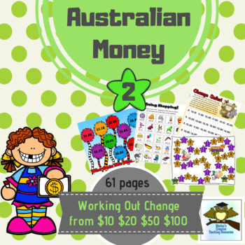Australian Money Pack 2 ~ Working Out Change {Games & Centre Activities}