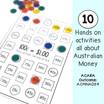 Australian Money Pack - Hands on activities - Year 2