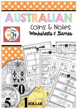 Australian Money Pack (Worksheets & Games)