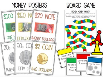 Australian Money Pack: Year 1 & 2 *Aligned with Australian Curriculum* 40+ PAGES