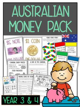 Australian Money Pack: Year 3 & 4 *Aligned with Australian Curriculum* 40+ PAGES