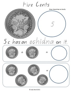 australian money part 2 australian coins 5c 2 by jody ward tpt. Black Bedroom Furniture Sets. Home Design Ideas