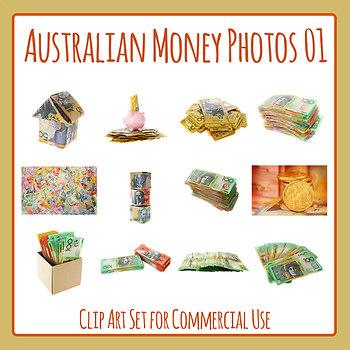 Australian Money Photo Set 01 Clip Art for Commercial Use