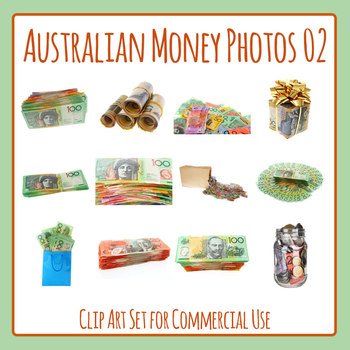 Australian Money Photo Set 02 Clip Art for Commercial Use