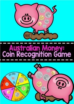 Australian Money Piggy Bingo Game