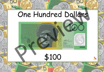 Australian Money Posters: Notes and Coins (A4 and A5) Math Display