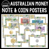 Australian Money Posters: Notes and Coins (A4 and A5) Math