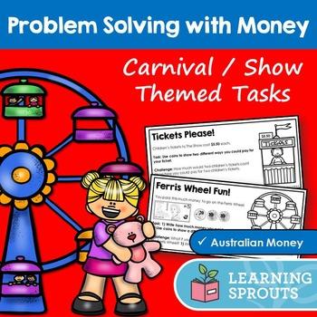 Australian Money Problem Solving Tasks: Carnival/Show Theme