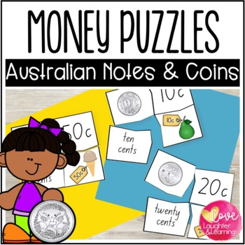 Australian Money Puzzles! Hands on fun to practice currenc