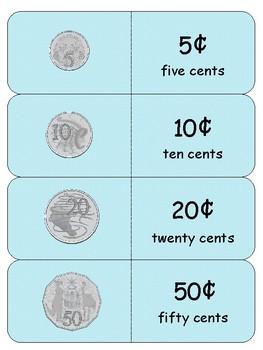 Australian Money 'Quiz-Quiz-Trade' - Recognising Coins