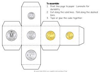 Australian Money Game {Roll & Cover}
