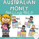 Australian Money Sorting Mats