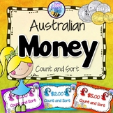 Australian Money Task Cards - Count and Sort