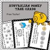 Australian Money Task Cards Higher Order Thinking FREE Taster
