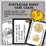 Australian Money Task Cards Higher Order Thinking HOTS Grade 1