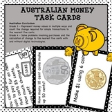 Australian Money Task Cards Higher Order Thinking HOTS Grades 3 and 4