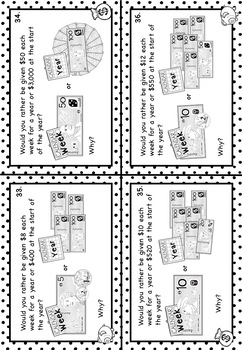 Australian Money Task Cards Higher Order Thinking Grade 5 Budgeting and Saving