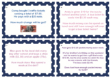 Australian Money Task Cards SAMPLE (Set of 24)