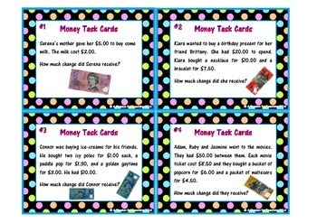 Australian Money Task Cards and Game BUNDLE