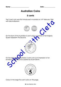 BUNDLE: Australian Money (Coins): Identification & Recognition - Numbers & Words