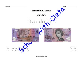 Australian Money (Dollar Notes) Their Images & Different Ways To Write Them