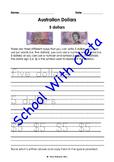 Australian Money (Dollar Notes): Trace & Copy Three Ways To Write Their Values