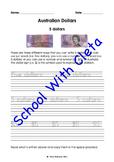 Australian Money (Dollar Notes): Trace & Copy Three Ways To Write Their Values*