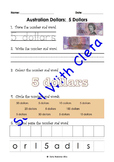 Australian Money (Dollar Notes): Trace, Write & Glue Values In Numbers & Words
