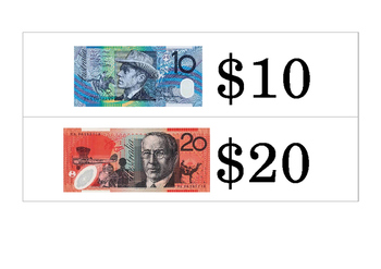 Australian Money Word Wall Cards plus Giant Coins
