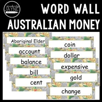 Australian Money - Word Wall Math Vocabulary Cards