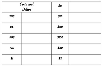 Australian Money Worksheet