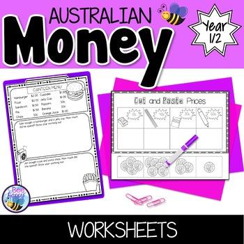 Australian Money Worksheets Year 1/2