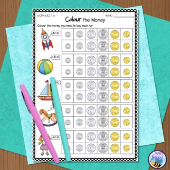 australian money worksheets year 2 3 by bee happy tpt. Black Bedroom Furniture Sets. Home Design Ideas