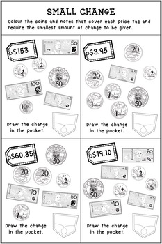 australian money worksheets by curious fox teachers pay teachers. Black Bedroom Furniture Sets. Home Design Ideas
