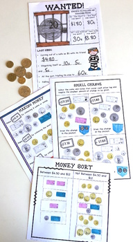 Australian Money Worksheets Higher Order Thinking HOTS Grade 3 and 4