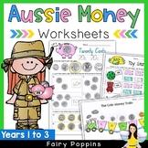 Australian Money Worksheets - NO PREP
