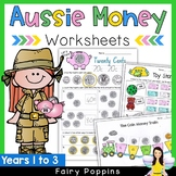 Australian Money Worksheets - Years 1-3 {NO PREP}