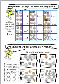 australian money worksheets year 3 4 by jbee educational. Black Bedroom Furniture Sets. Home Design Ideas
