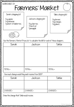Australian Money Worksheets Year 3/4 by Bee Happy | TpT