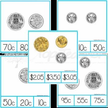 Australian Money - coin clip cards