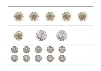 Australian Money values 20c, 50c