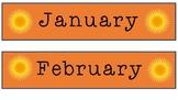 Australian Months & Seasons Labels