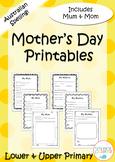 Australian Mother's Day Printables