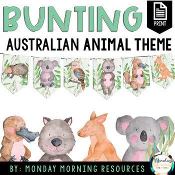 Australian Wildlife Printable Bunting