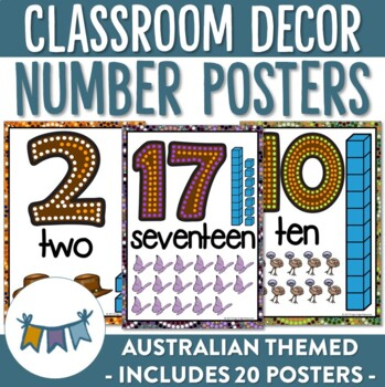 Australian Number Posters