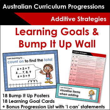 Australian Numeracy Progressions - Additive Strategies - Learning Goals & more!