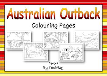 Australian Outback Colouring Pages And Pre Coloured By Teachezy Tpt